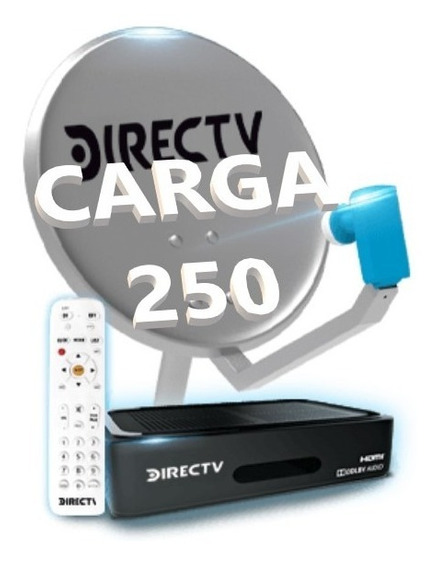 Recarga Saldo Directv Prepago $250 Carga Crédito Directv