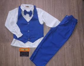 Conjunto Social Colete Infantil Masculino Azul Bic