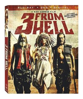 3 From Hell Blu-ray + Dvd Importado Nuevo Rob Zombie