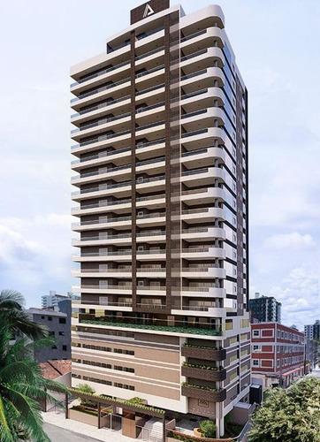 Apartamento Alto Padrão Com Parcelamento Em 140 Meses,  3 Suítes  À Venda, 132 M² Por R$ 929.000 - Canto Do Forte - Praia Grande/sp. - Ap3496