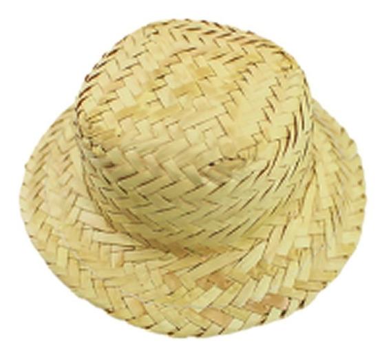 25 Chapéu De Palha Boneca Para Enfeite Ref 0019