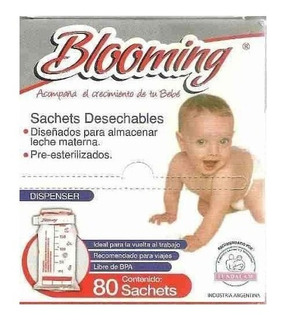 Blooming Sachets Esterilizados X 80 Unidades - Para Leche