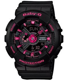 Relógio Casio Baby-g Anadigi Feminino Ba-111-1adr