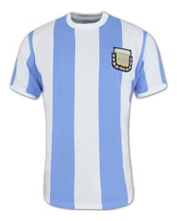 Camisa Retro Da Argentina 1986 Campeã Copa 86 Ligaretro