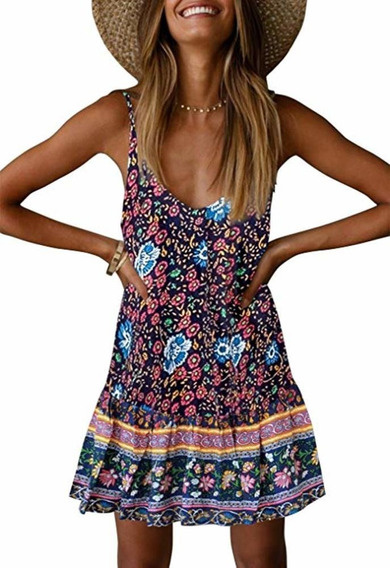 Vestido Estampa Boho Chic Roupas Femininas 2020 Blogueira