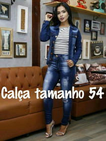 Kit Calça Jeans + Body Couro Plus Size