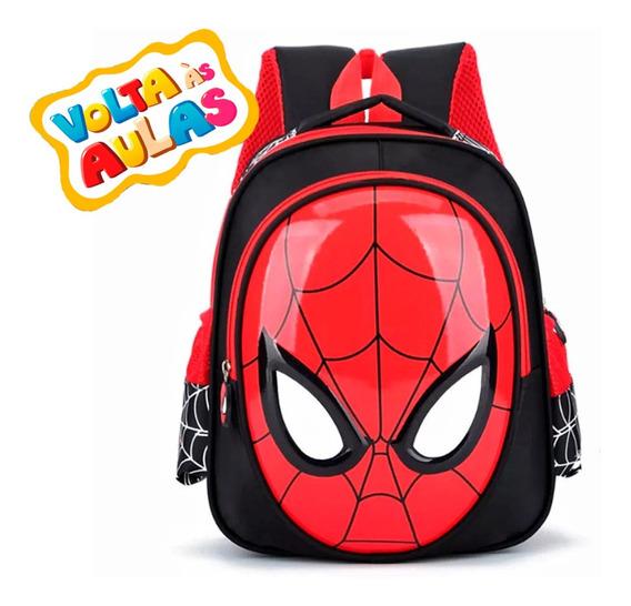 Mochila Infantil Escolar Spiderman 3d H Aranh Pronta Entrega