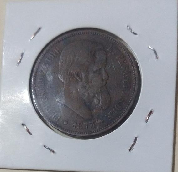 Moeda 40 Réis Bronze 1875
