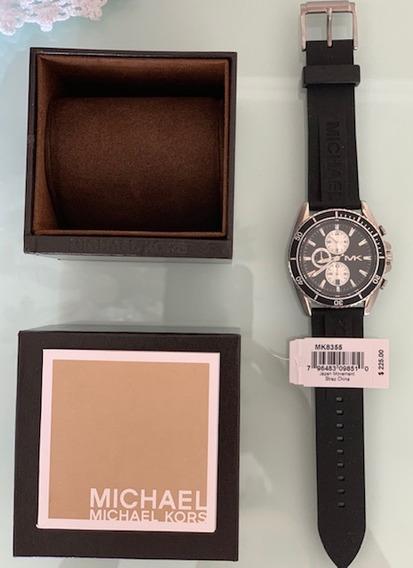 Relógio Michael Kors Jetmaster Chronograph Black Dial Black