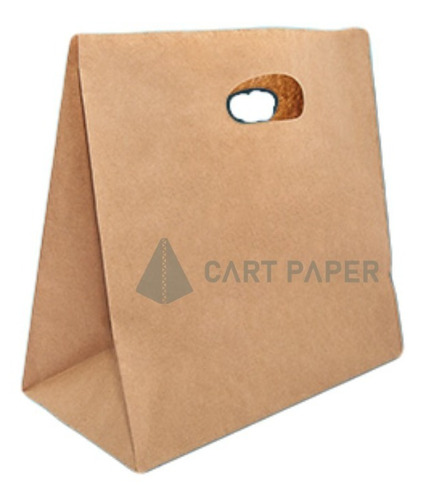 Imagen 1 de 1 de Bolsa Papel Kraft Delivery Con Manilla / Cartpaper