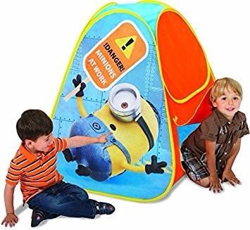 Imagen 1 de 4 de Mini Carpa  Teepes Tipis Play Hut Minions Juguete  Jueg-001