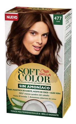 Tintura Wella Sin Amoniaco Kit Soft Color 477 Cafe