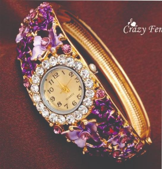 Relógio Feminino Dourado Lindo