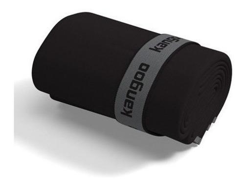 Toalla De Microfibra Kangoo Talla M Color Negro Con Gris