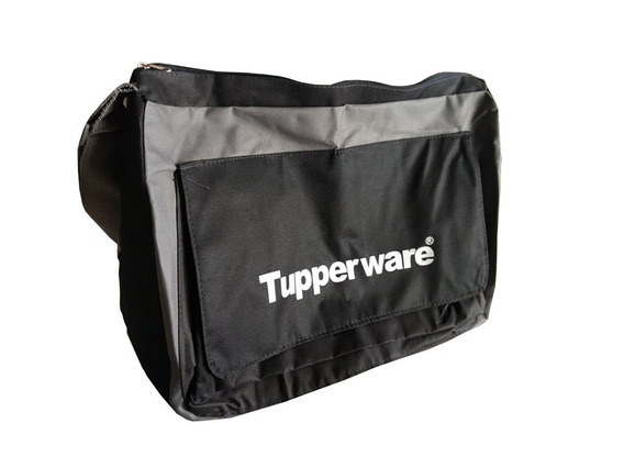 Tupperware Bolsa Nova Consultora Preto/cinza 5 Pçs