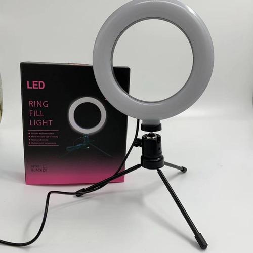 Iluminador Ring Light 16cm 6,5 Polegadas Usb Led + Tripé