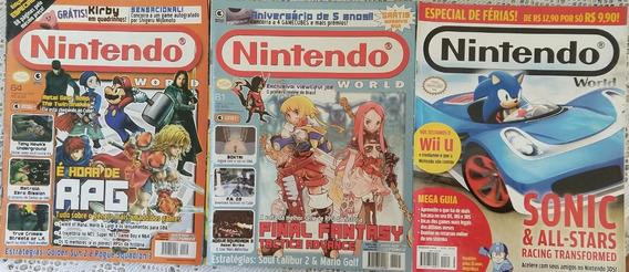 Revistas Nintendo World - Lote 3 Edições - 61/64/165