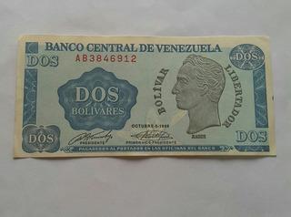 Billete De 2 Bs. De 1989. Tinoquito