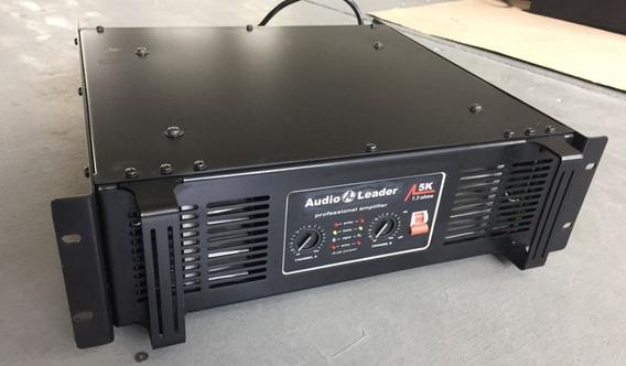Amplificador Potencia Audio Leader 5k 5000w Toca 12 Falantes