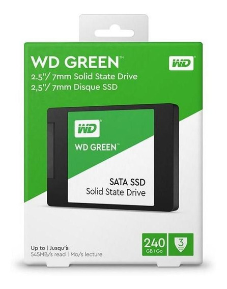 Hd Ssd 240gb 2.5 Sata Iii Wd Green 7mm Wds240g2g0a