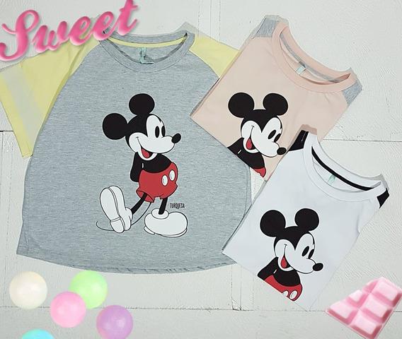 Remera Dama Mickey Mouse Manga Corta