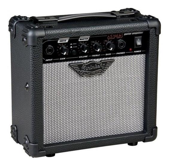 Cubo Para Guitarra 12w Rms Com Overdrive Sg-15 Strinberg