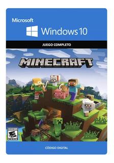 Minecraft Windows 10 Codigo Original Juego Completo Oficial