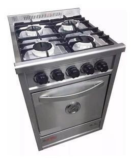 Cocina Industrial Fornax 52cm 4 Hornallas Puerta Acero