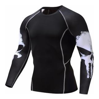 Camisa Térmica Segunda Pele Punisher - Compressão Esporte