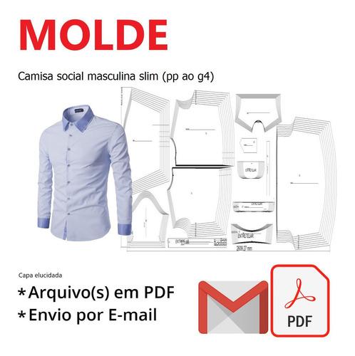 Camisa Social Masculina Slim (pp Ao G4)