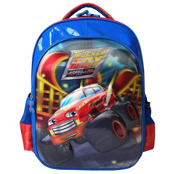 Mochila Infantil Costas Speed Car Azul