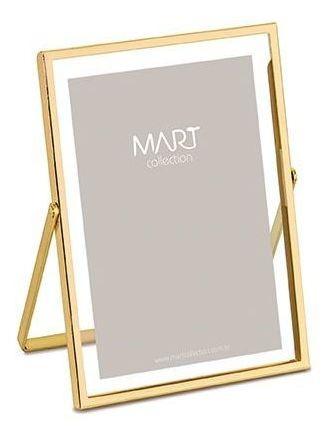 Porta Retrato Dourado Em Metal 15x20 Cm 9116 Mart
