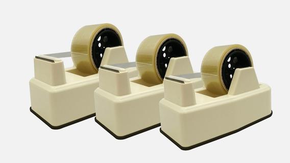 Kit 3 Unidades - Suporte Aplicador Fita Adesiva Larga Durex