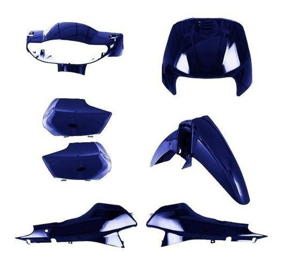Kit Carenagem Biz 100 Completo Pro Tork Azul 1998 À 2005