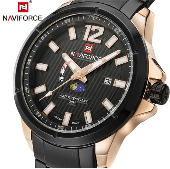 Relógio Masculino Naviforce 9084 De Pulso Original Promoção