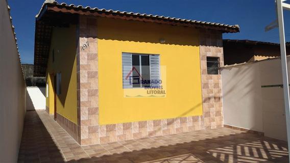 Casa Térrea Na Praia De Mongaguá 2 Dormitórios. Financie