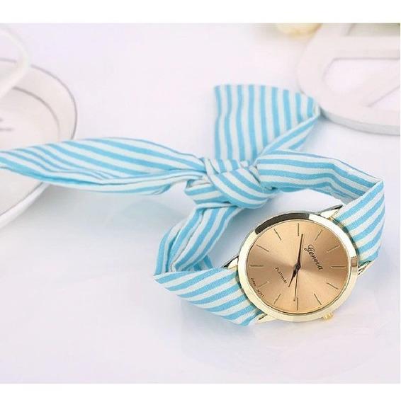 Reloj Mujer Liston Azul Geneva
