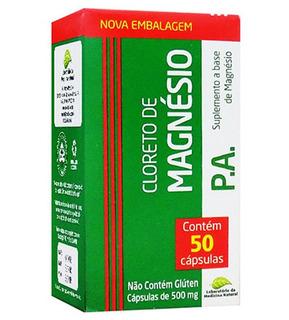 Cloreto De Magnésio P.a. 50 Cápsulas 500mg - Medinal