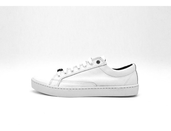 Zapatilla Cuero Blanco Cosida Leather %100 Vanderholl