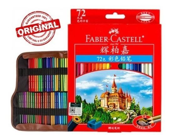 Set 72 Lápiz Original Faber Castell Colores Dibujo Estuche