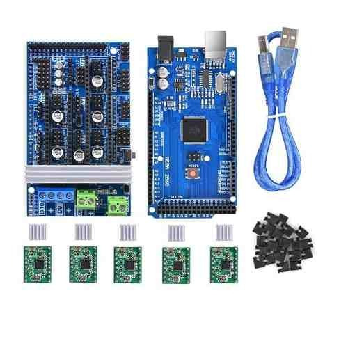 Kit Arduino Mega 2560 + Ramps 1.6 + 5x A4988 + Cabo Usb