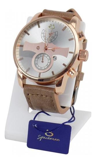 Relógio Luxo Masculino Pulseira De Couro