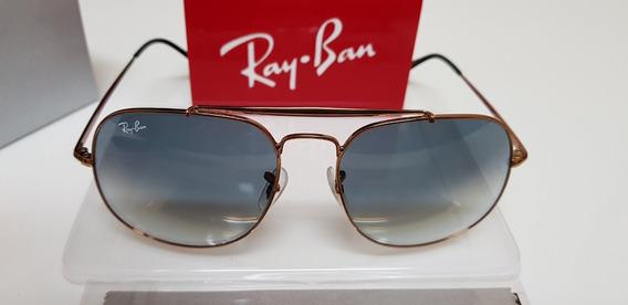 Óculos De Sol Ray-ban Rb3561 General Cinza Degradê Original