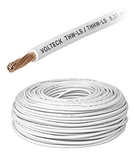 Cable Thhw-ls 10 Awg Blanco Rollo 100m Cab-10b 46055