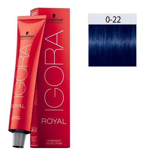 Imagem 1 de 1 de Schwarzkopf Igora Royal 60ml 0/22 Tom Mistura Azul