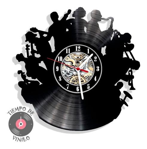 Reloj De Pared Elaborado En Disco De Lp Musica Ref.01