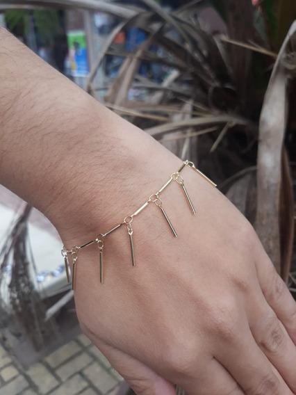 Pulseira Feminina Dourada Antialérgico Folheado A Ouro 18k
