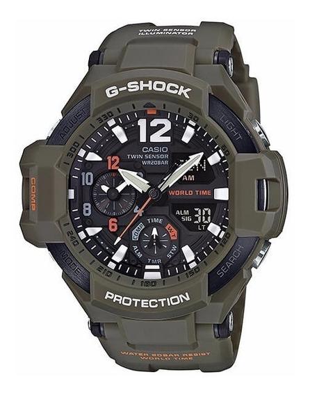 Relógio Casio G-shock Ga 1100kh 3a Gravitymaster Bussola