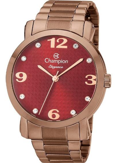 Relógio Champion Feminino Analógico Elegance Vinho Cn26279v