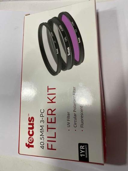 Filtro Kit Lente 40.5mm Filtro Uv, Polarizador, Fluorescente